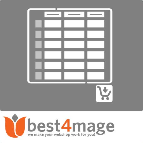 Konfigurierbares Produkt Eingabematrix für Magento 1